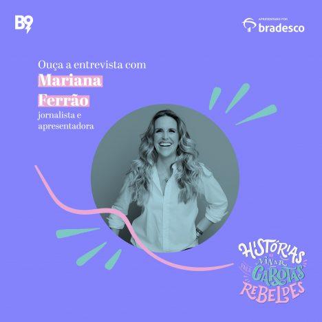 Capa - Entrevista com Mariana Ferrão, jornalista e apresentadora