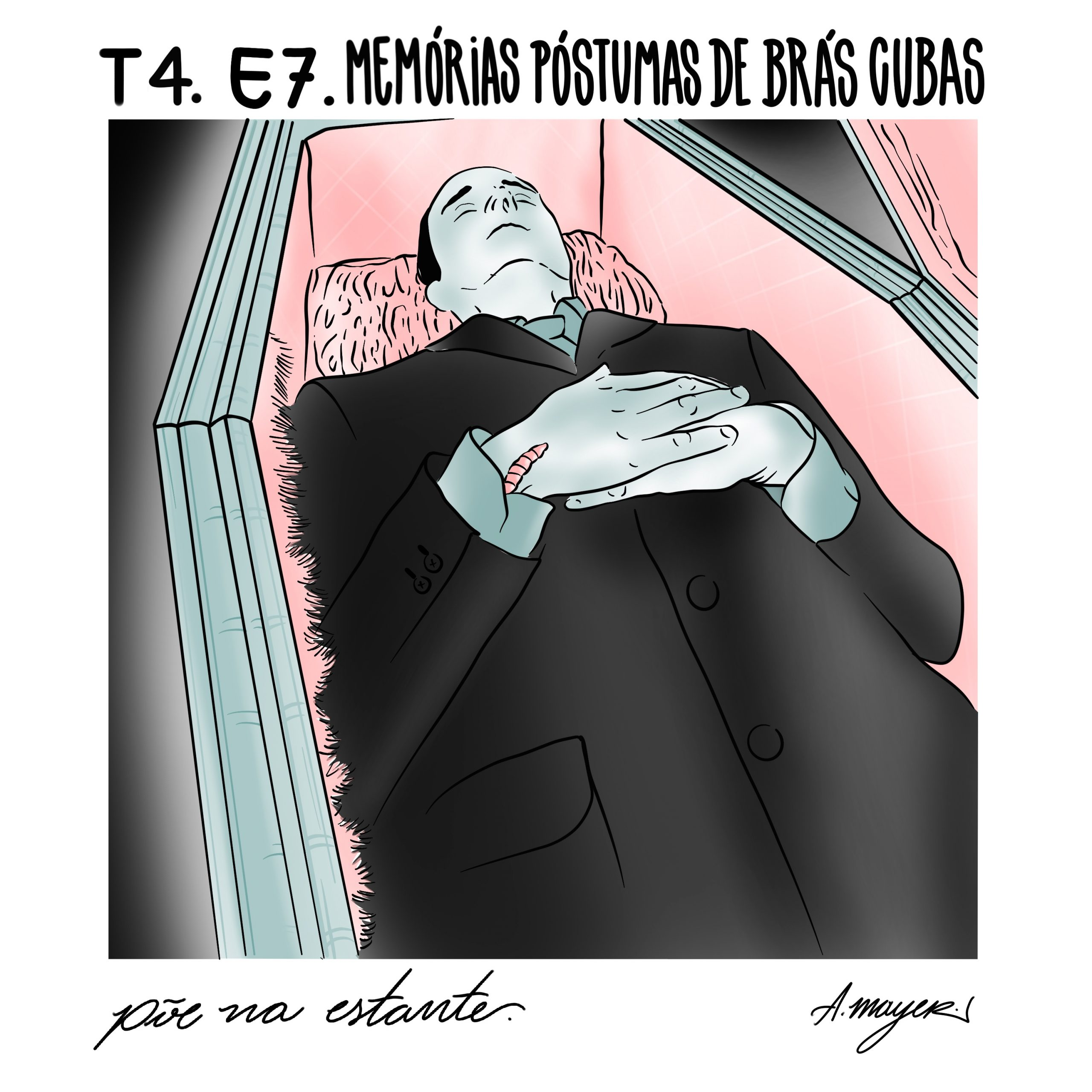 Capa - Memórias Póstumas de Brás Cubas, de Machado de Assis