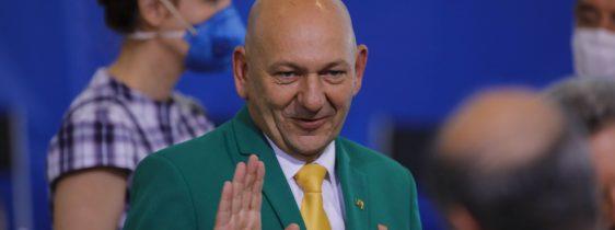 AndreMendonca-LucianoHang-JairBolsonaro-MinistroDaJustica-Posse-29Abr2020