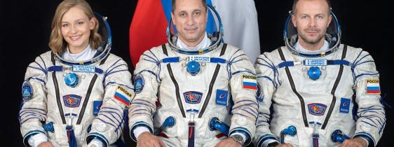 Soyuz MS-19/65S CrewYulia Peresild, Anton Shkaplerov, Klim Shipenko from GCTC